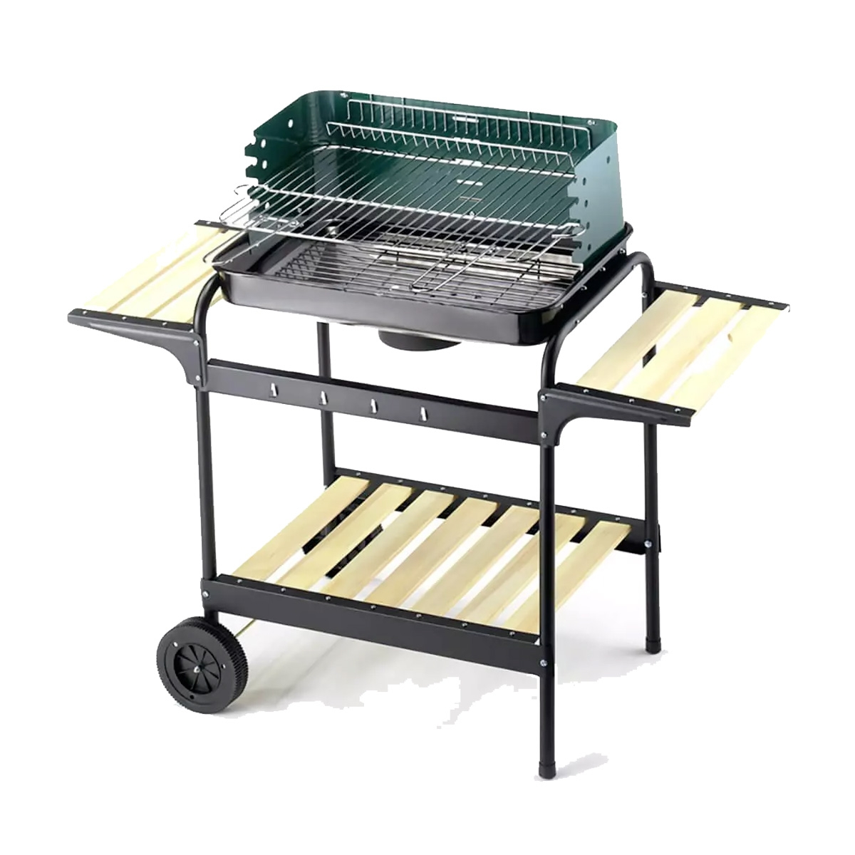 Image of Barbecue a carbonella Ompagrill 60-40 Green/W
