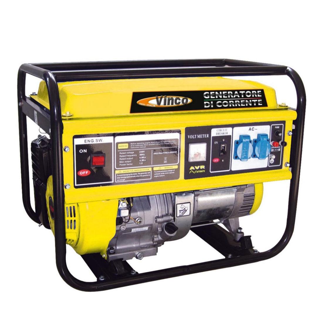 Generatore di corrente 4 0 kw vinco bdl5000 ebay for Generatore di corrente 10 kw