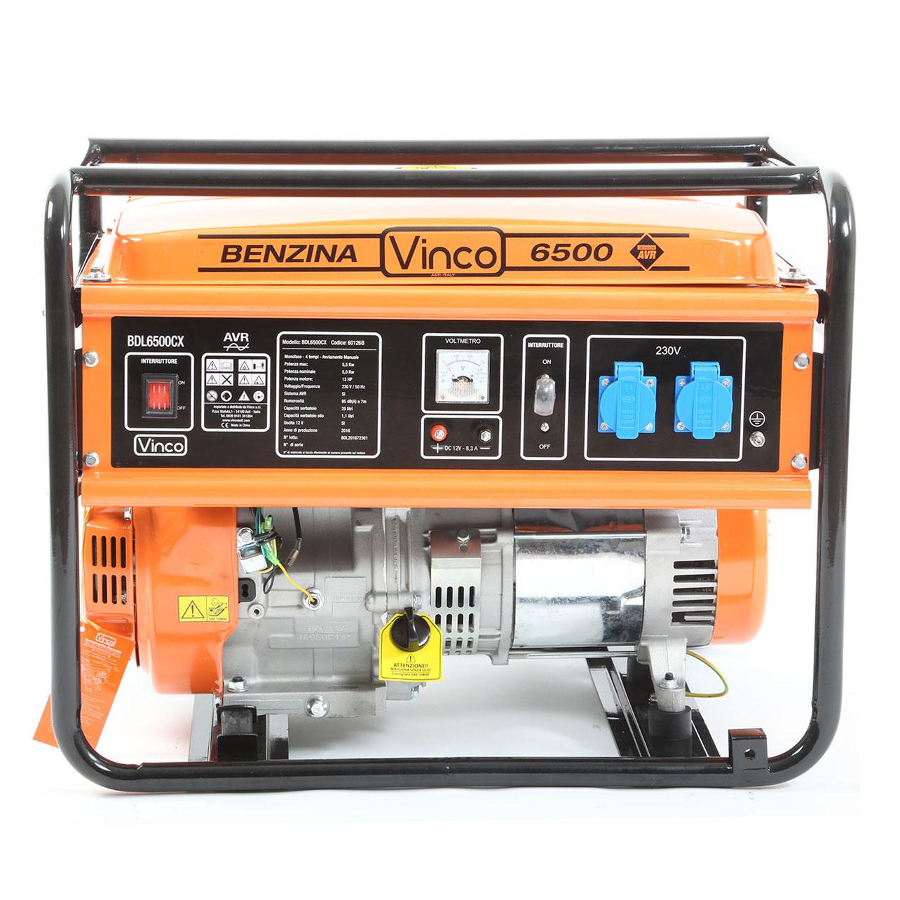 Generatore di corrente 5 5 kw vinco bdl6500cx ebay for Generatore di corrente lidl