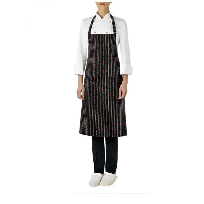 Grembiule da cucina Giblor's Parigi menù peperoncino art. 10M1836