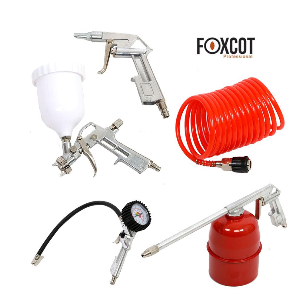 kit 5 utensili pneumatici foxcot per compressore aria ebay. Black Bedroom Furniture Sets. Home Design Ideas