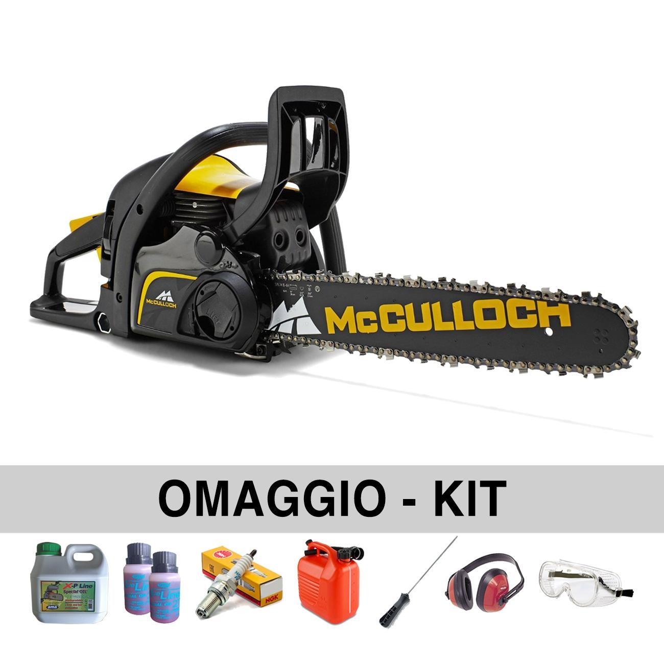 Motosega McCulloch CS450 ELITE professionale - Con Omaggi