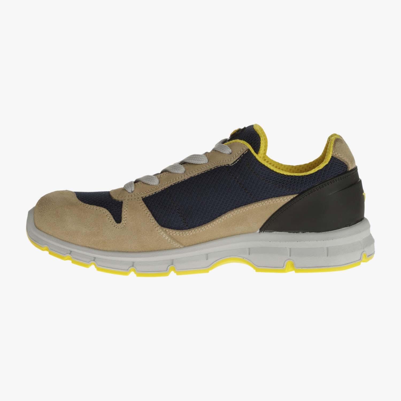 Dettagli su Scarpe antinfortunistiche Diadora Run Textile S1P beigeblu traspirabili leggere