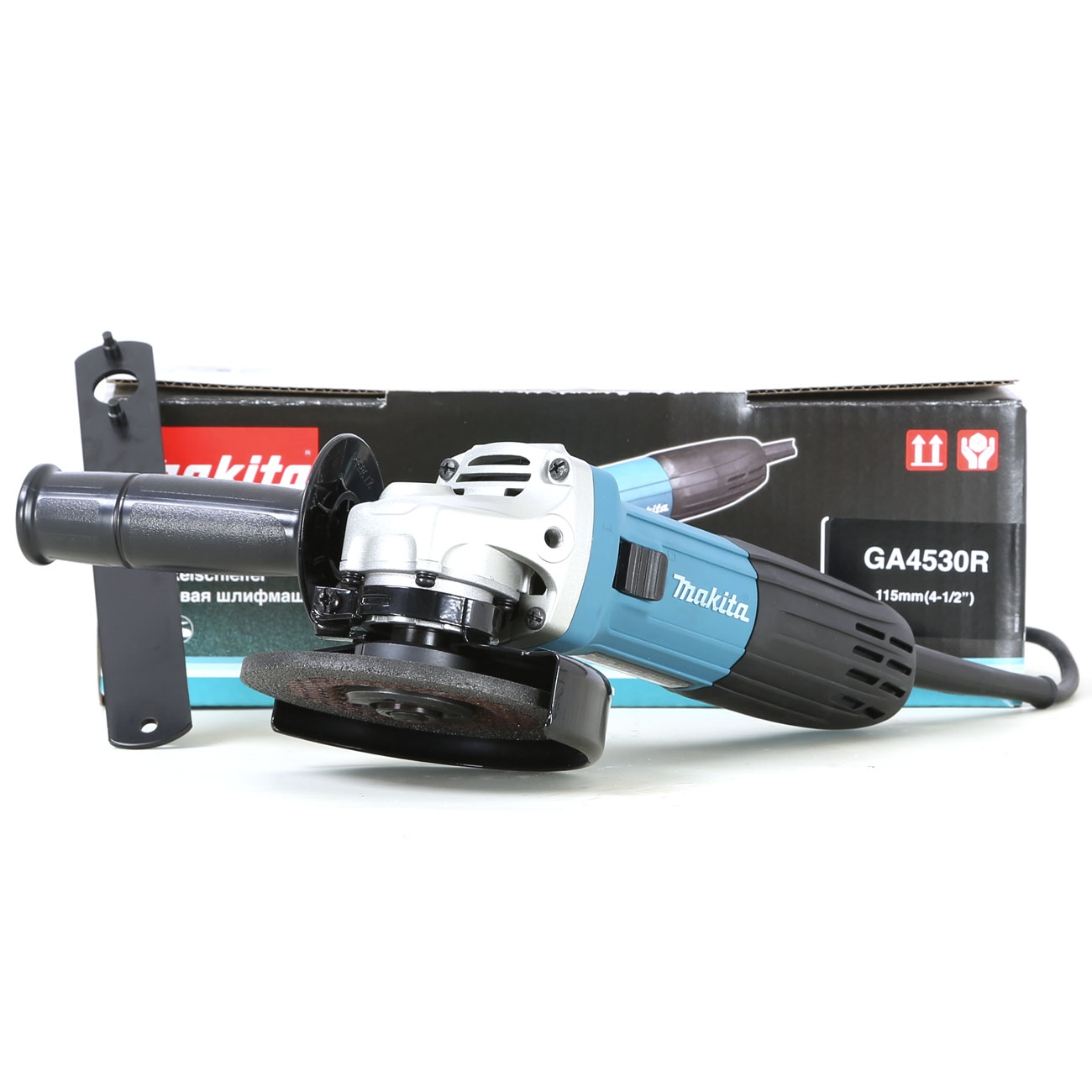 makita ga4530r smerigliatrice angolare 115mm con antiriavvio flex 720 w 240 v ebay. Black Bedroom Furniture Sets. Home Design Ideas