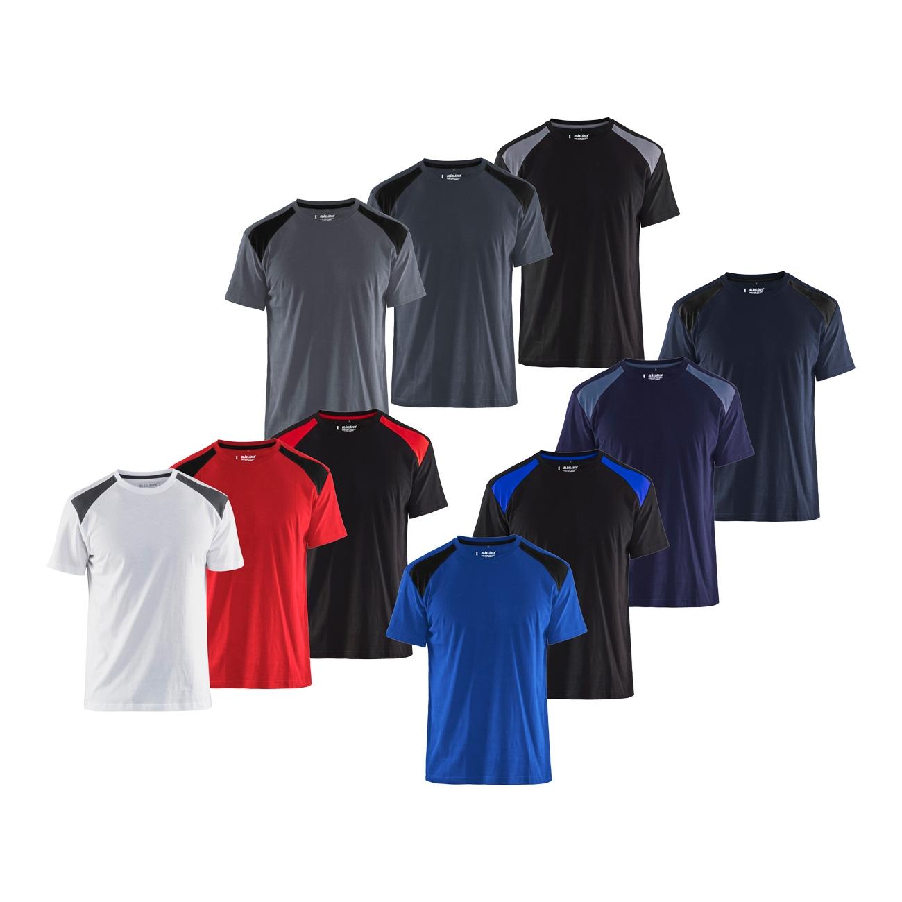 Image of T-shirt da lavoro Blaklader 3379-Azzurro-L