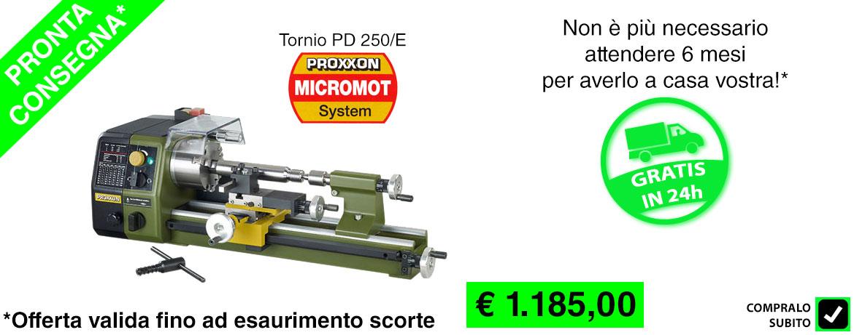 5 - promo tornio proxxon 24002 pronta consegna