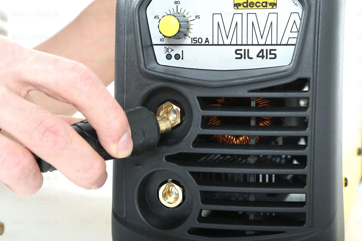 Saldatrice inverter DECA SIL 415 attacco morsetti