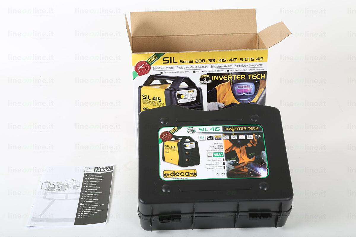 Saldatrice inverter DECA SIL 415 valigetta