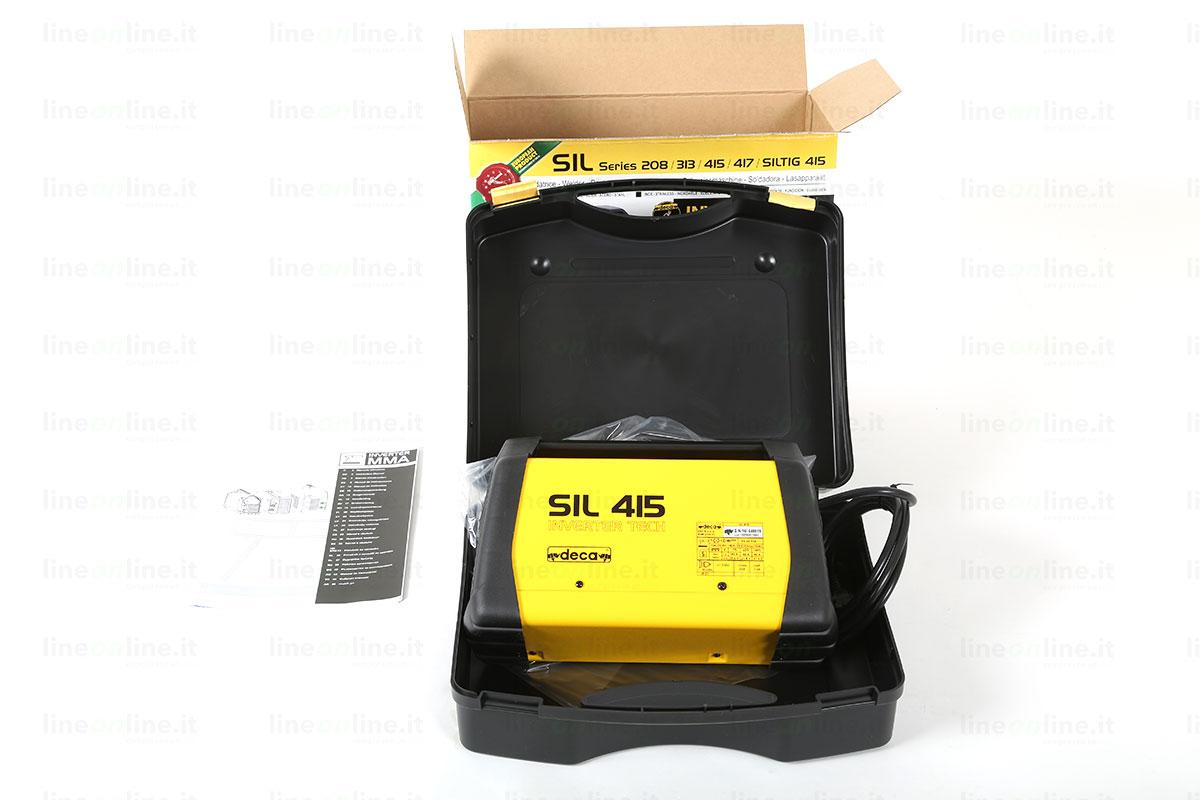 Saldatrice inverter DECA SIL 415 contenuto valigetta