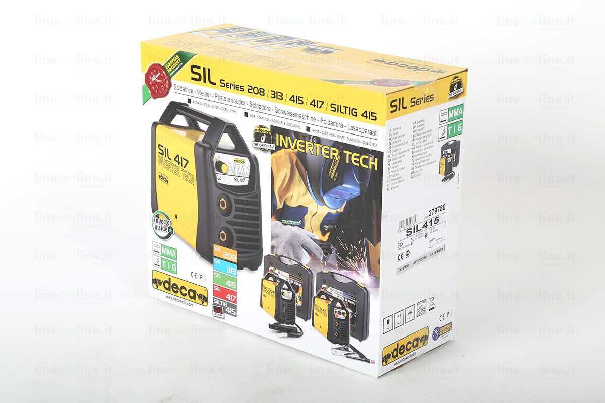 Saldatrice inverter DECA SIL 415 confezione