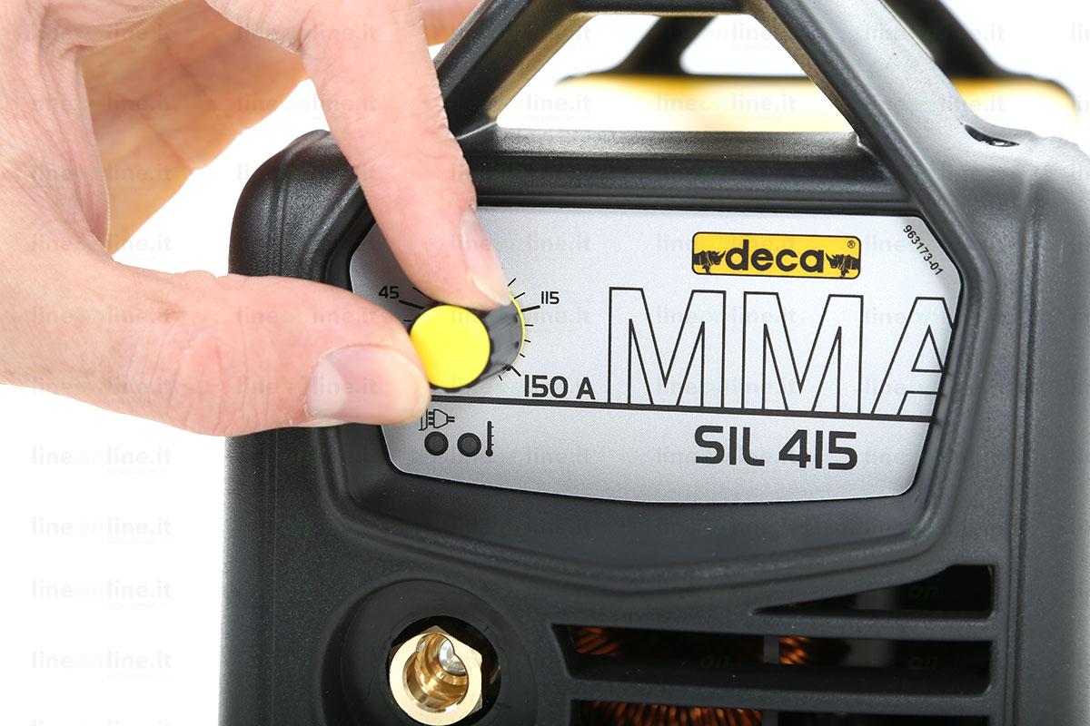 Saldatrice inverter DECA SIL 415 regolazione amperaggio