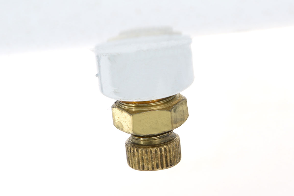 compressore 25 litri foxcot fl24 particolare valvola sfiato serbatoio