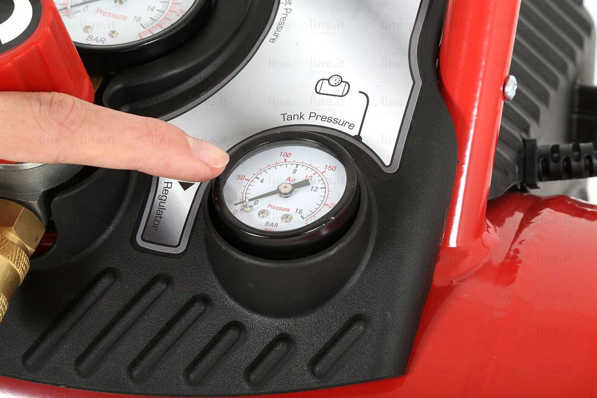 Compressore portatile Fini Energy 12 manometro pressione interna