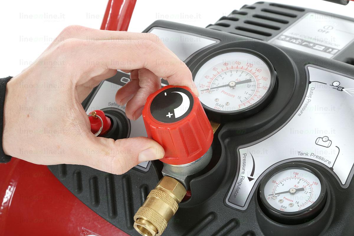 Compressore portatile Fini Energy 12 manopola pressione