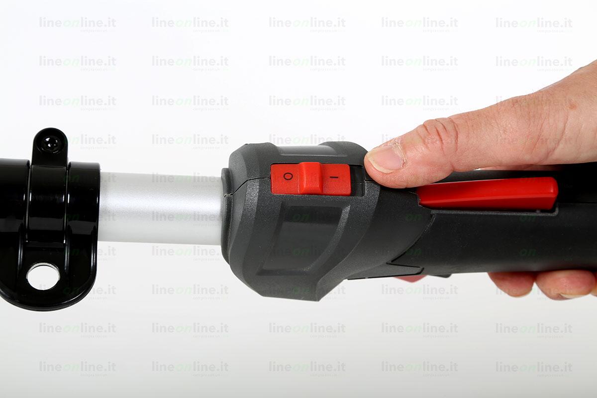 Decespugliatore Kawasaki TJ35E tasto accensione