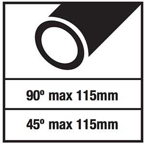 troncatrice ferro aeg smt 355: capacità di taglio circonferenza
