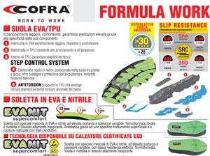 catalogo calzature cofra linea Formula Work - Tutti i vantaggi