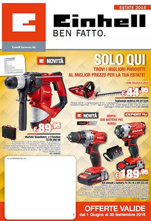 Einhell catalogo: volantino estate 2016