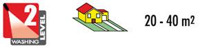 Idropulitrice Lavor - Superficie consigliata, indicazione dei metri quadri