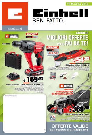 Einhell catalogo: giornalino primavera 2016