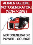 Telwin force 165 - Utilizzo con generatore