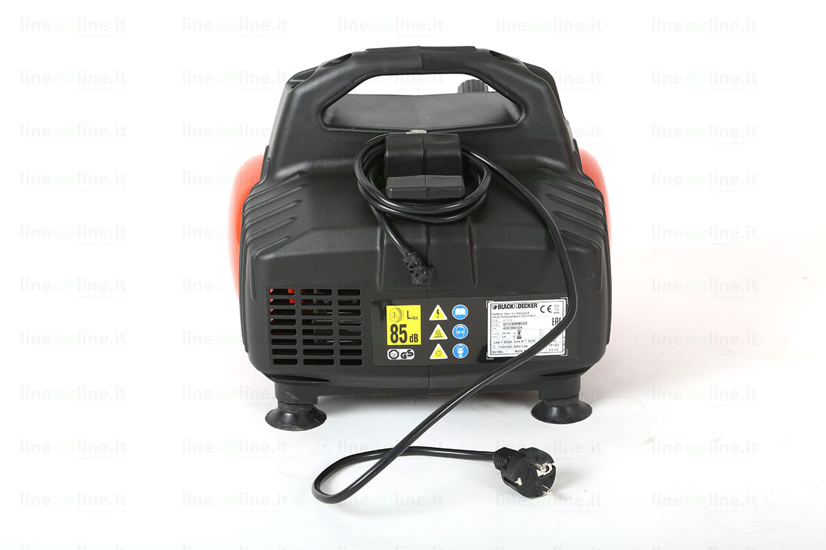 Compressore portatile Black and Decker BD55/6 lato posteriore