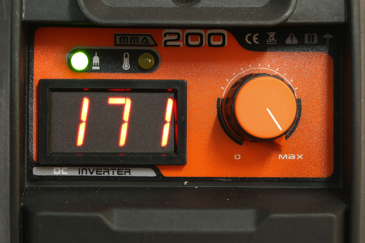 saldatrice foxcot 165A display potenza