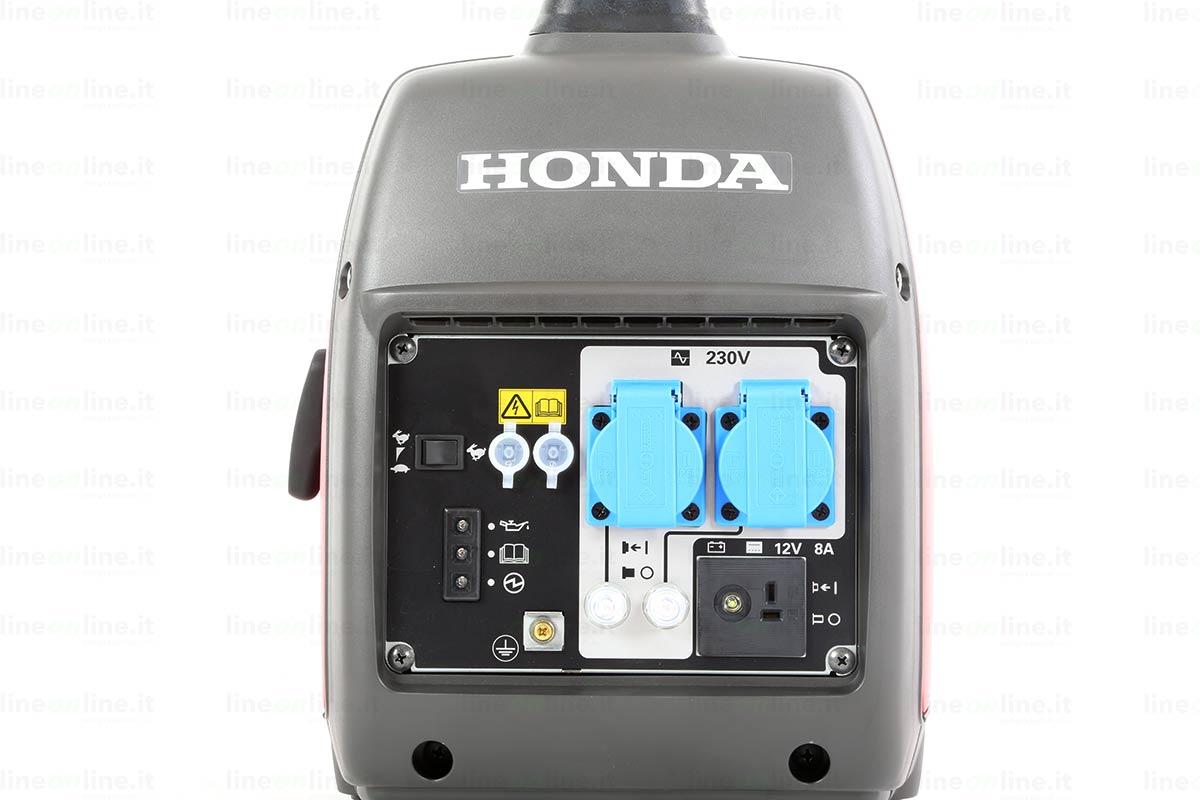Generatore corrente Honda EU20i pannello controllo