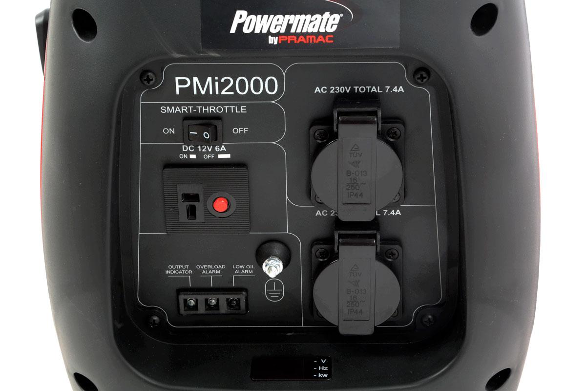 Generatore corrente Pramac PMi2000 pannello di controllo