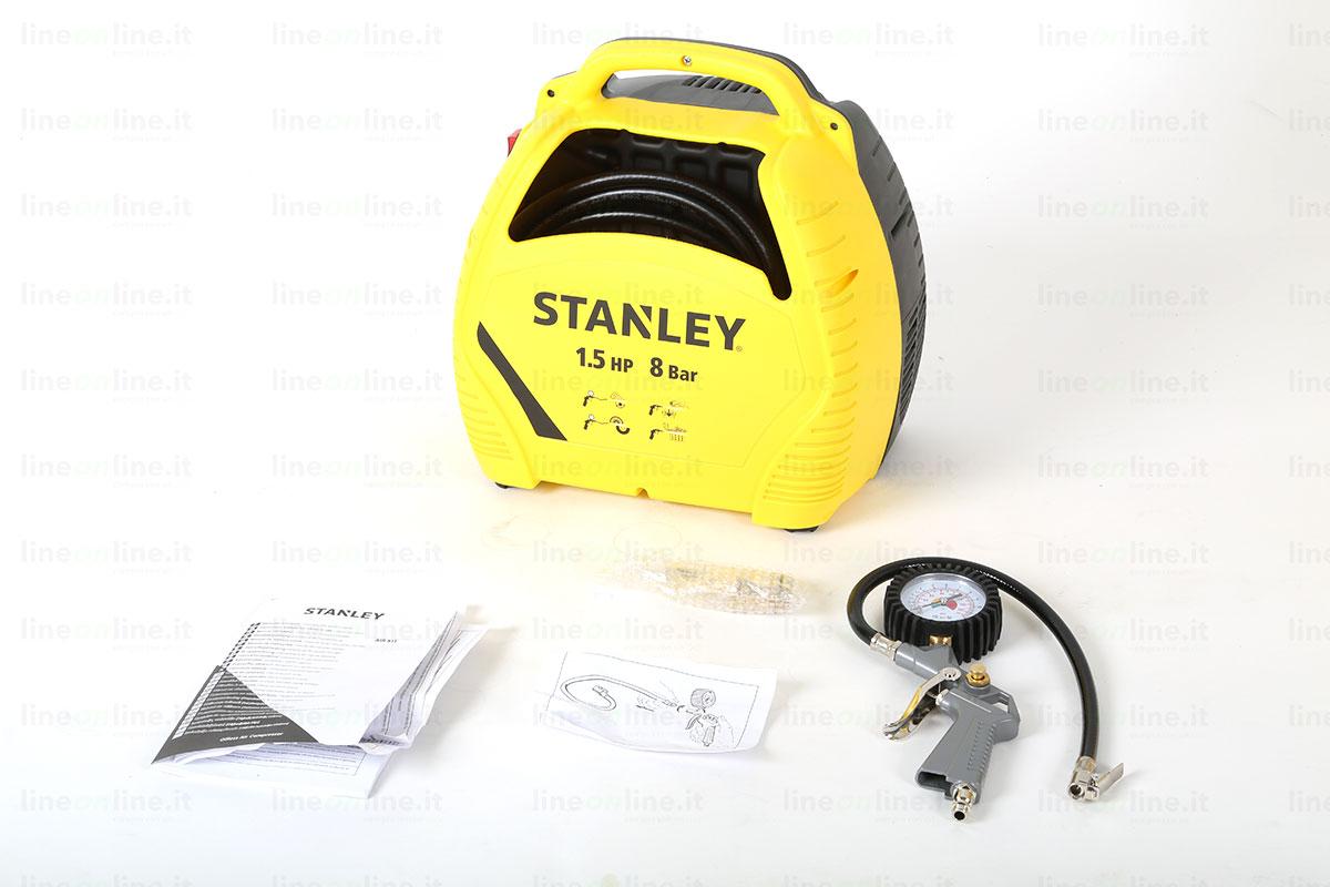 Compressore portatile Stanley AIR KIT contenuto