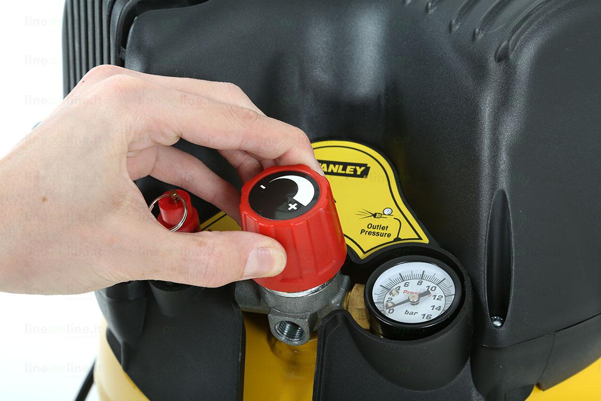 Compressore aria Stanley D200/10/24/V comandi funzionamento