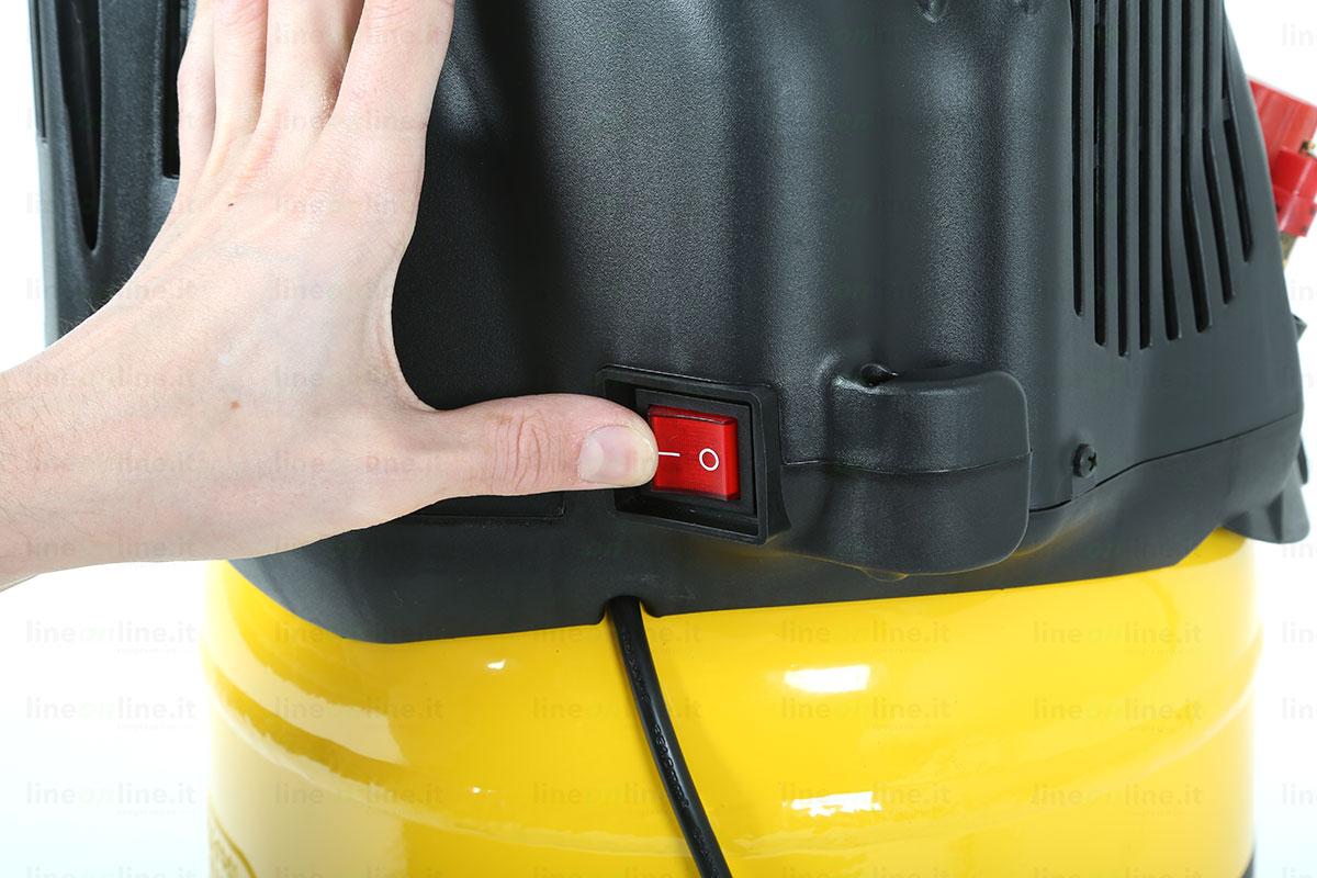 Compressore aria Stanley D200/10/24/V tasto accensione