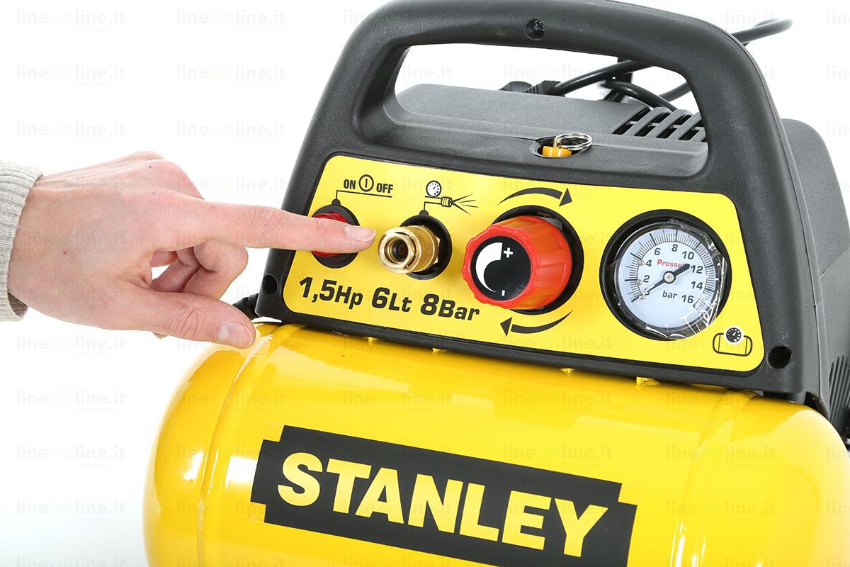 Compressore portatile Stanley DN 200/8/6 comandi