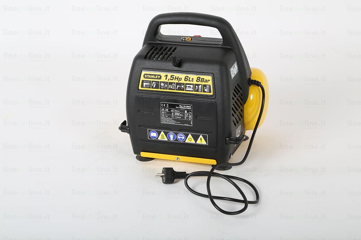 Compressore portatile Stanley DN 200/8/6 lato posteriore