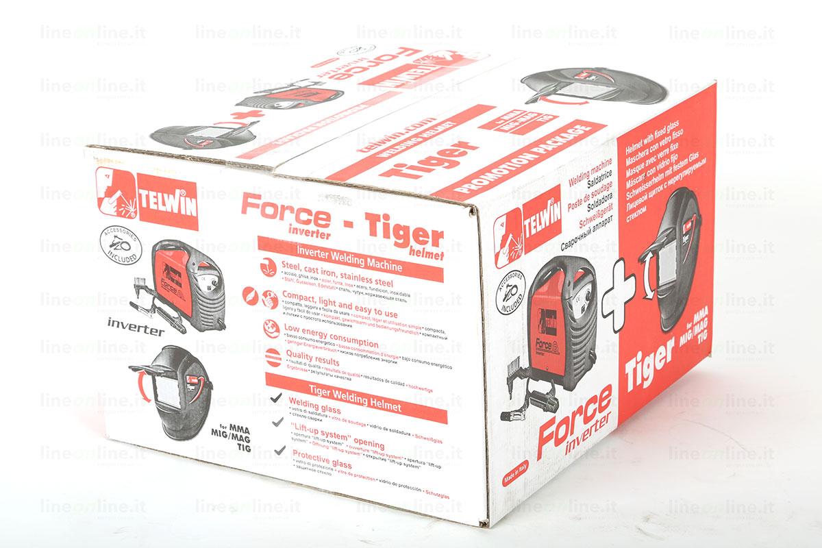 Saldatrice inverter TELWIN FORCE 125 815861 scatola originale
