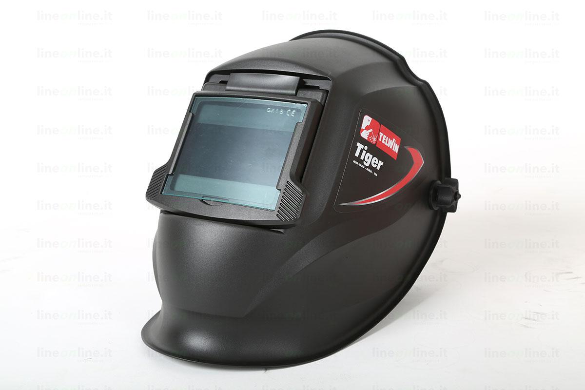 Saldatrice inverter TELWIN FORCE 125 815861 casco saldatura