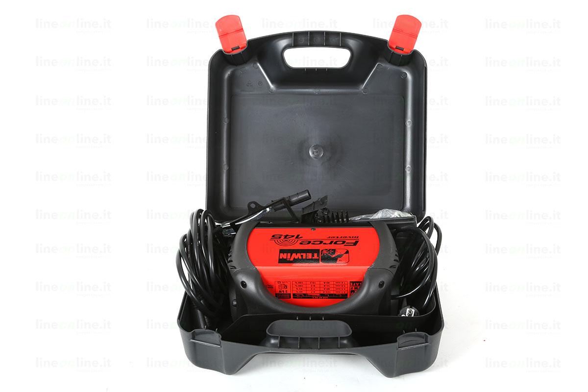 Saldatrice inverter TELWIN FORCE 145 815856 valigia aperta