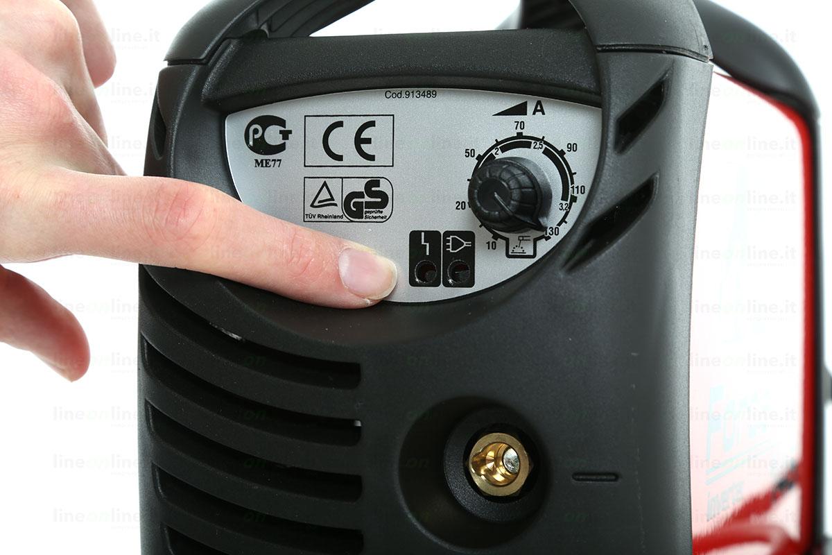 Saldatrice inverter TELWIN FORCE 145 led luminosi
