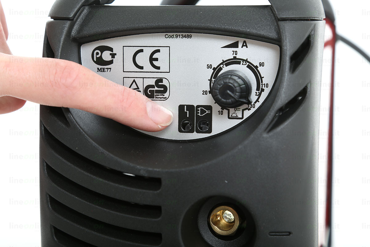 Saldatrice inverter TELWIN FORCE 145 815862 led luminosi