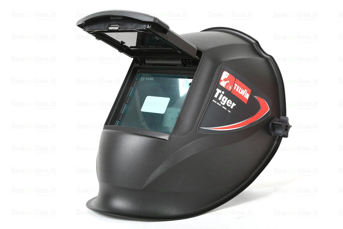 Saldatrice inverter TELWIN FORCE 145 815862 casco aperto