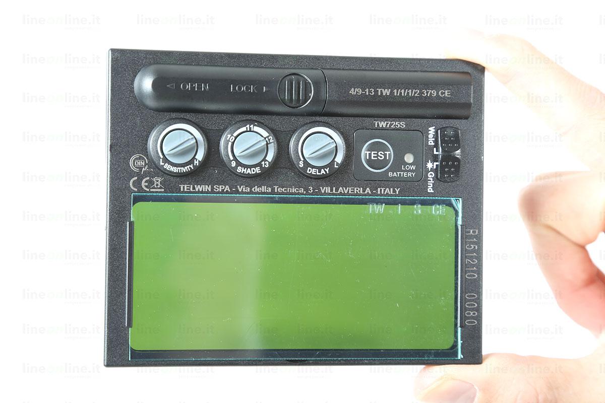 Saldatrice inverter TELWIN FORCE 165 815863 visiera auto-oscurante