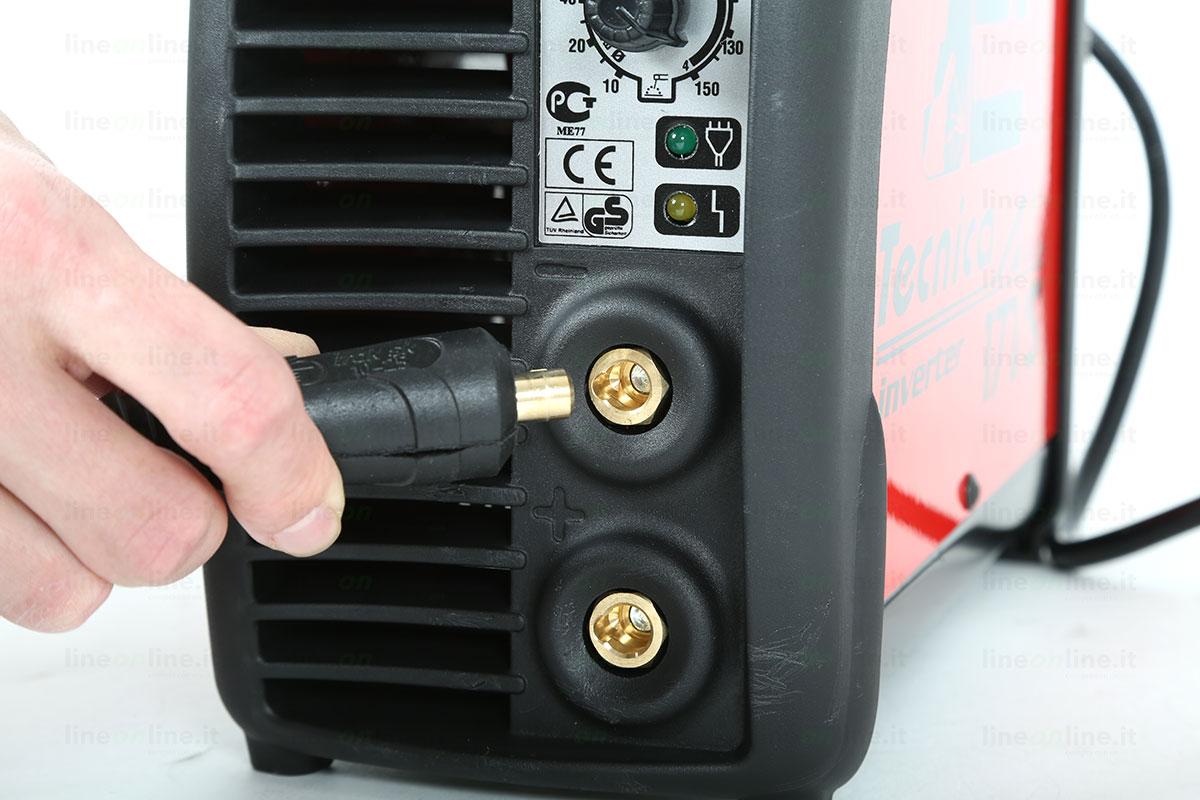 Saldatrice inverter TELWIN TECNICA 171/S attacco cavi